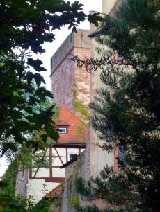 Durchblick auf die Burg